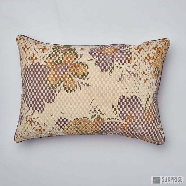 Surprise Home - Digital Flowers 35 x 50 cms Cushion Covers (Purple)