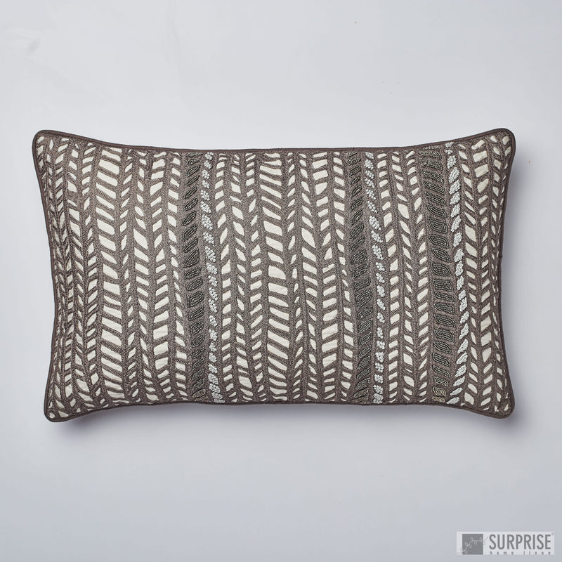 Surprise Home - Luxury Leaves Cushion Covers (Dark Chocolate)