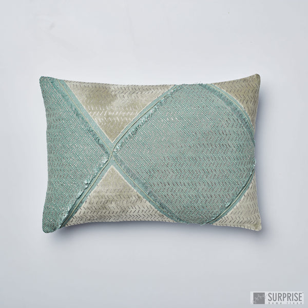 Surprise Home - Rhombus 35 x 50 cms Cushion Covers (Green)