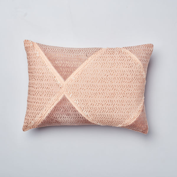 Surprise Home - Rhombus 35 x 50 cms Cushion Covers (Peach)