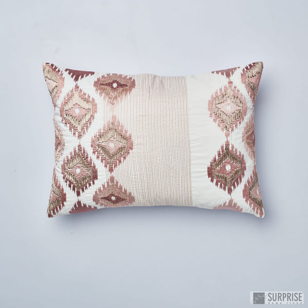 Surprise Home - Silk Ikat Cushion Covers (Blush Pink)
