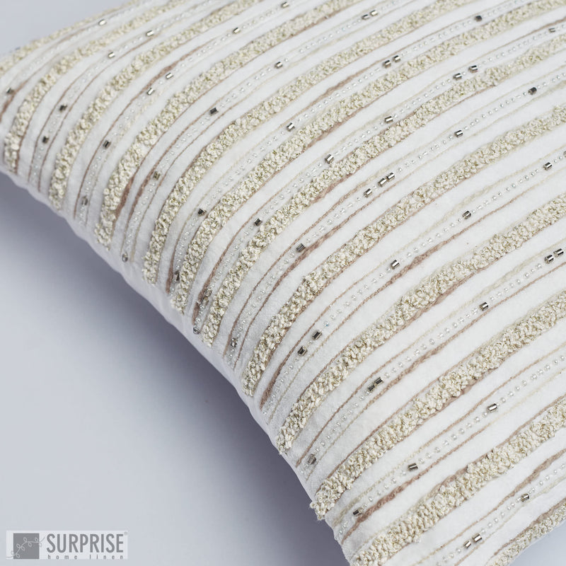 Surprise Home - Elegance Cushion Covers (Beige)