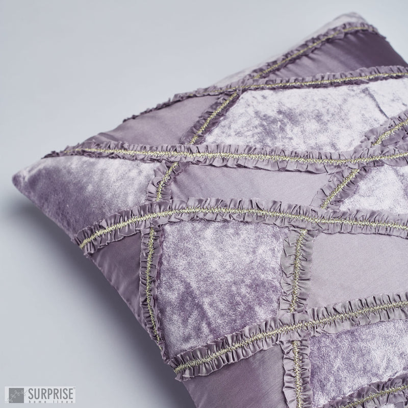 Surprise Home - Ribbon Patch Cushion Covers (Violet)