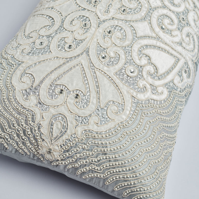 Surprise Home - Luxury Damask 35 x 60 cms Cushion Covers (Grey)