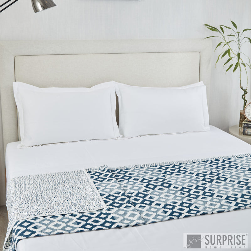 Surprise Home - Modern Reversible Dohar (Indigo)