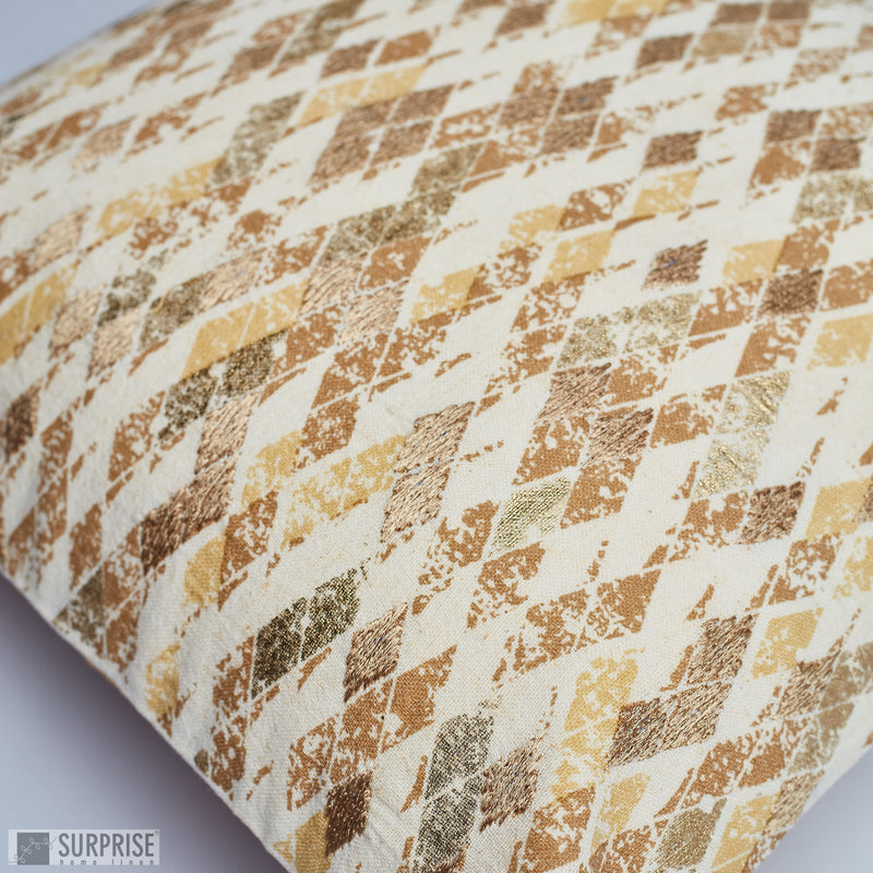 Surprise Home - Rhombus Cushion Covers (Gold)