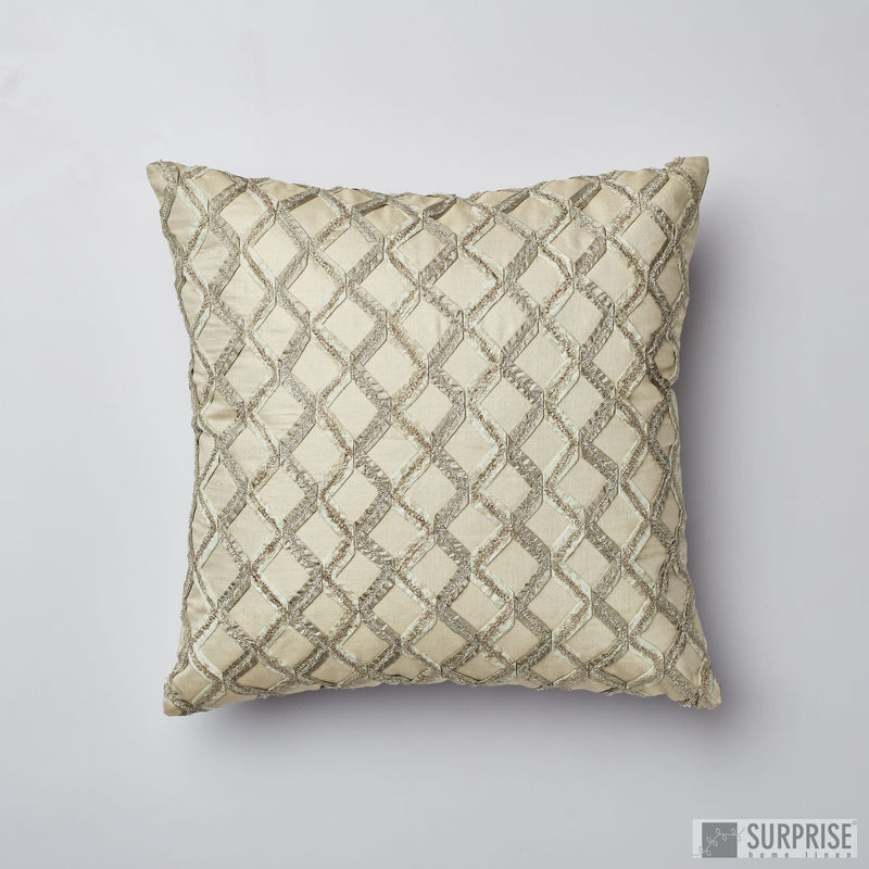 Surprise Home - Aari Grid Cushion Covers (Sage Green)