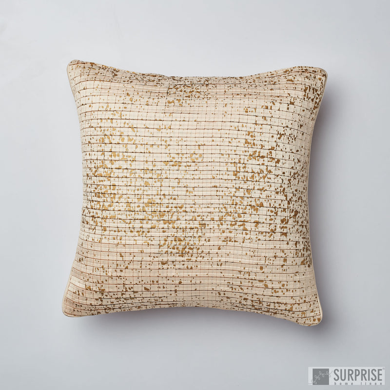 Surprise Home - Silk Checks Cushion Covers (Cream)