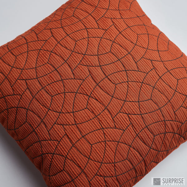 Surprise Home - Circle Trellis Cushion Covers (Rust)