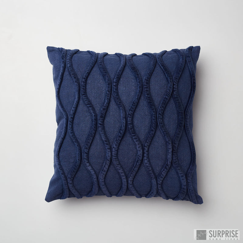 Surprise Home - Waves Cushion Covers (Dark Blue)