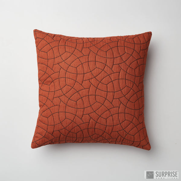 Surprise Home - Circle Trellis 30 x 30 cms Cushion Covers (Rust)