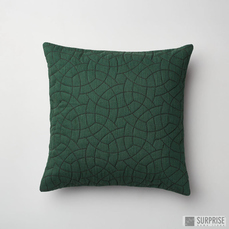 Surprise Home - Circle Trellis Cushion Covers (Dark Green)