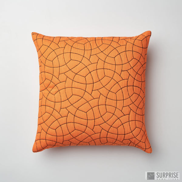 Surprise Home - Circle Trellis Cushion Covers (Orange)