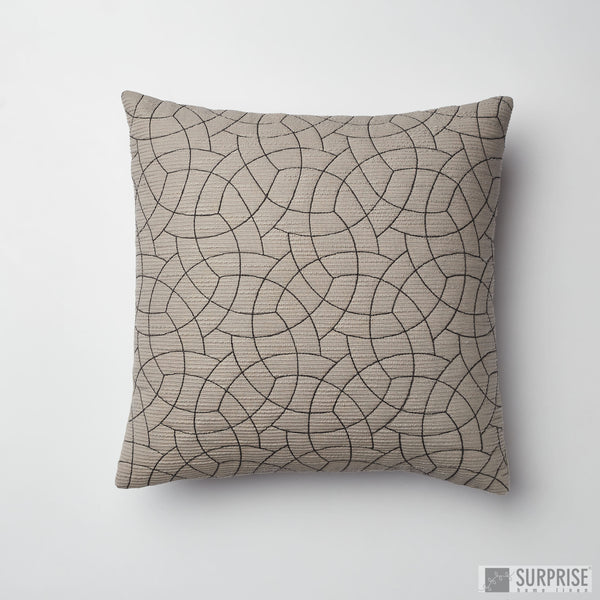 Surprise Home - Circle Trellis Cushion Covers (Grey)