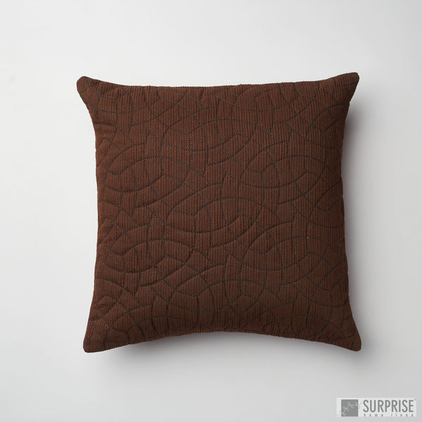 Surprise Home - Circle Trellis Cushion Covers (Brown)