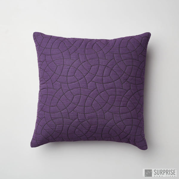 Surprise Home - Circle Trellis 30 x 30 cms Cushion Covers (Purple)
