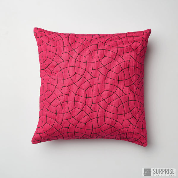 Surprise Home - Circle Trellis Cushion Covers (Hot Pink)
