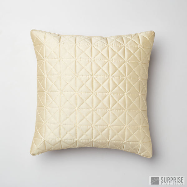Surprise Home - Grid 40 x 40 cms Cushion Covers (Cream)