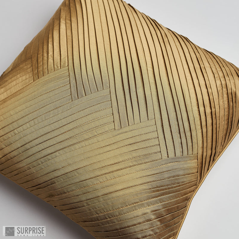 Surprise Home - Solid Pleats Cushion Covers (Copper)