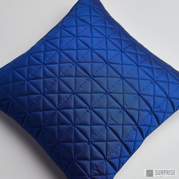 Surprise Home - Grid 40 x 40 cms Cushion Covers (Royal Blue)