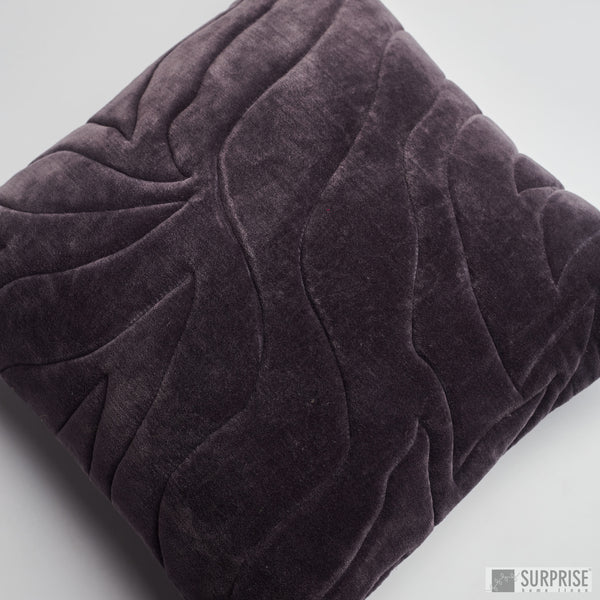 Surprise Home - Quilted Waves Cushion Covers (Charcoal)
