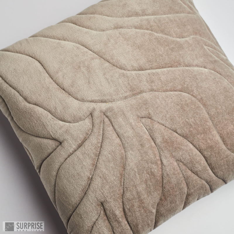 Surprise Home - Quilted Waves Cushion Covers (Grey)