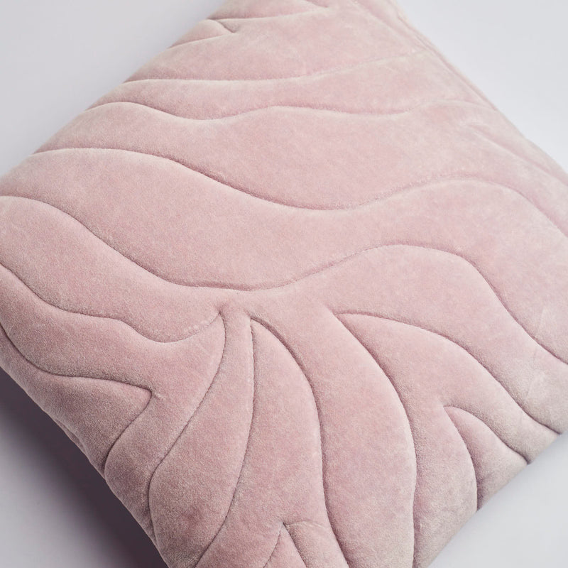 Surprise Home - Quilted Waves Cushion Covers (Lilac)