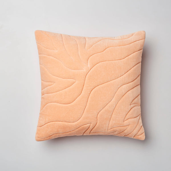 Surprise Home - Quilted Waves Cushion Covers (Peach)