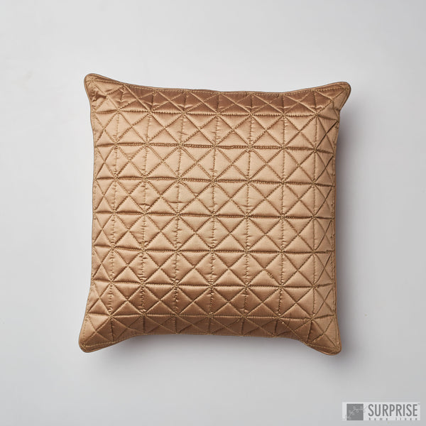 Surprise Home - Grid 40 x 40 cms Cushion Covers (Copper)