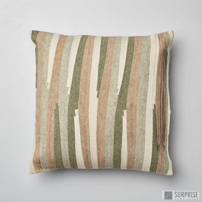 Surprise Home - Pleated Waves Cushion Covers (Green)