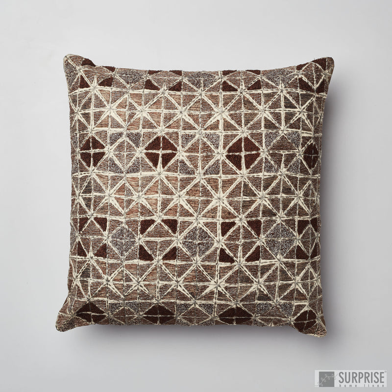 Surprise Home - Gypsy Squares Cushion Covers (Brown)