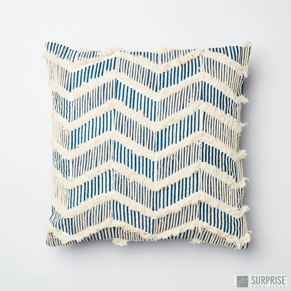 Surprise Home - Sequined Chevron Cushion Covers (Blue)