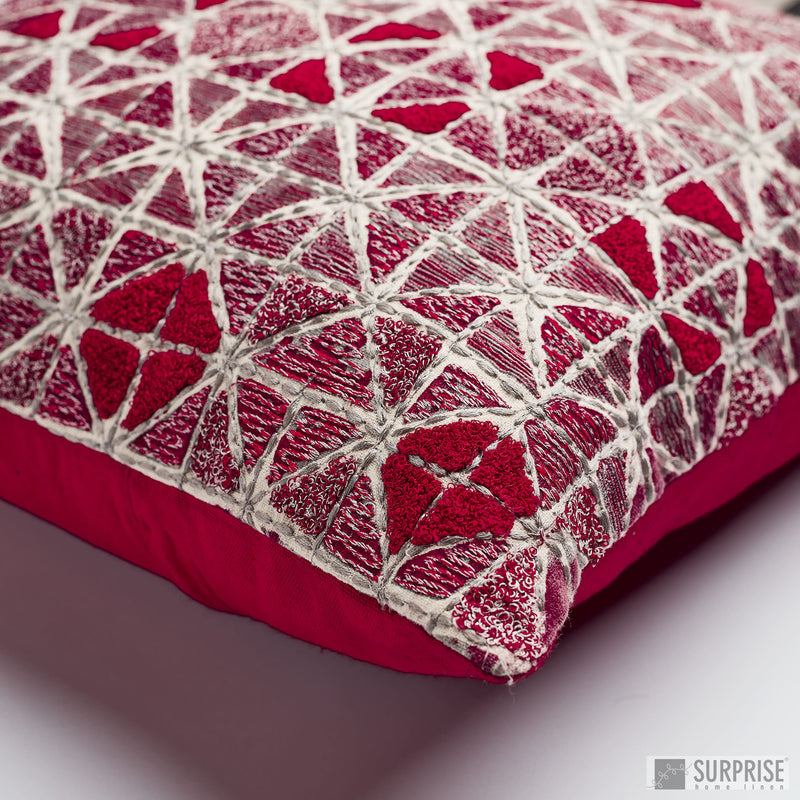 Surprise Home - Gypsy Squares Cushion Covers (Red)