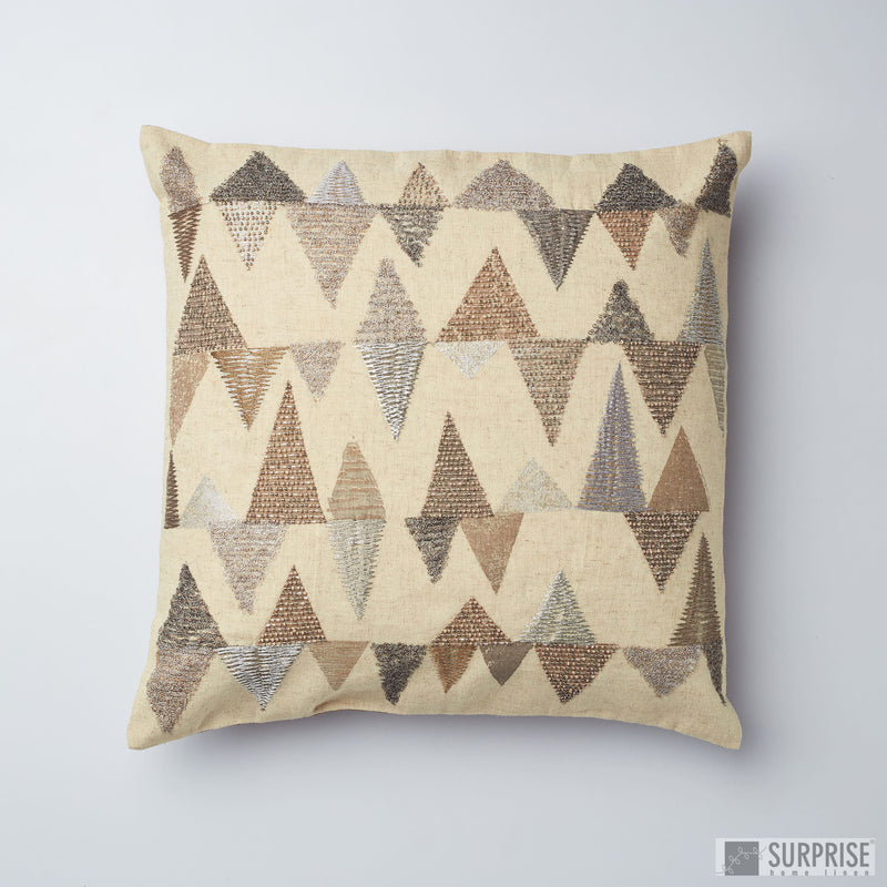 Surprise Home - Pyramid Fantasy Cushion Covers (Beige)