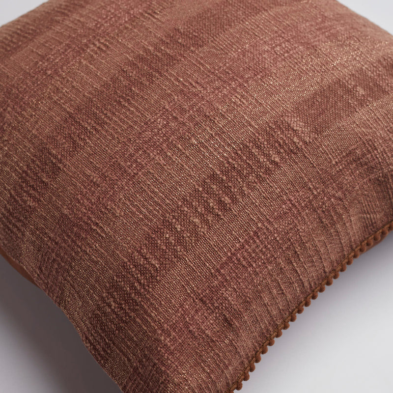 Surprise Home - Textured Stripes Cushion Covers (Telephone Brown)