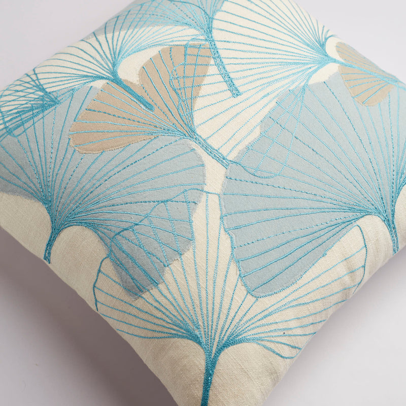 Surprise Home - Floral Fantasy Cushion Covers (Icy Blue)