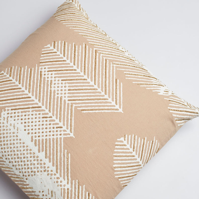 Surprise Home - Autumn Fern Cushion Covers (Natural Brown)