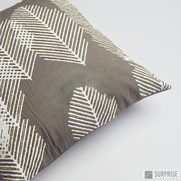 Surprise Home - Autumn Fern Cushion Covers (Charcoal)