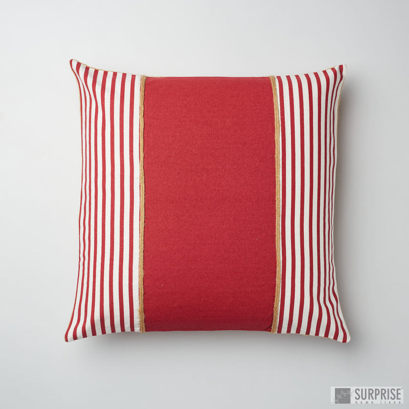 Surprise Home - Nautic Stripes Cushion Covers (Red)