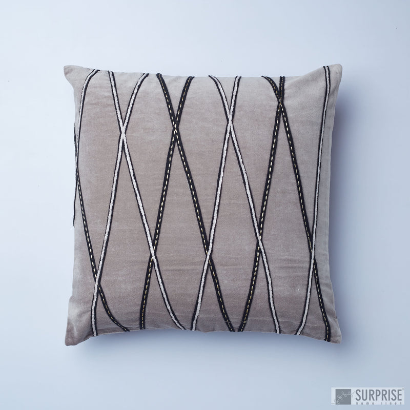 Surprise Home - Crisscross Cushion Covers (Grey)