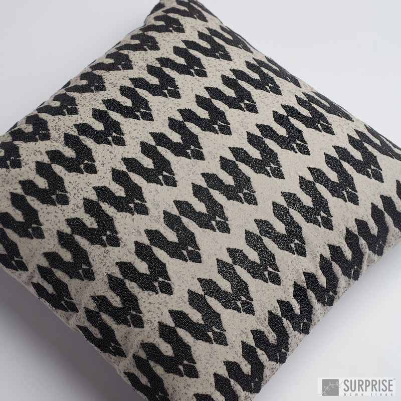Surprise Home - Modern Beads Cushion Covers (Grey)