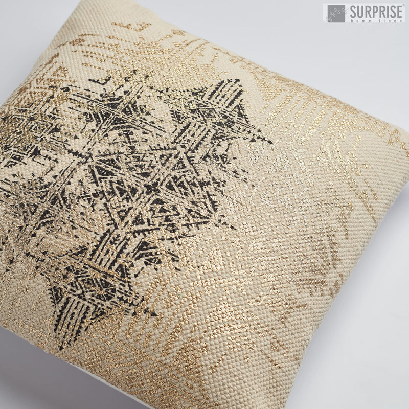 Surprise Home - Ethnic Print Cushion Covers (Gold)