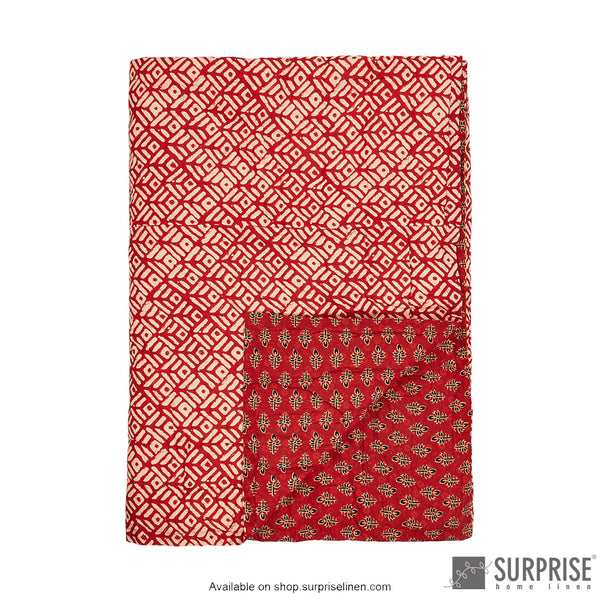 Surprise Home - Ethnic Rajai (Red)