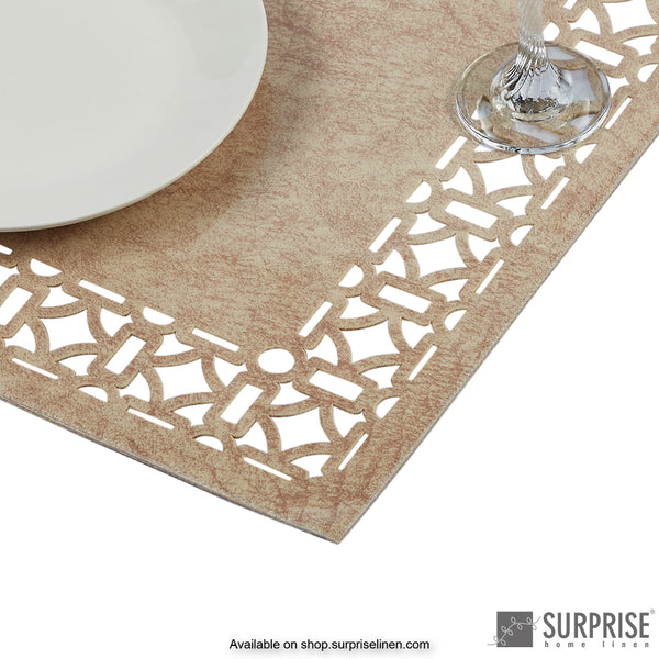 Surprise Home - Laminated Table Mats (Leather Brown)