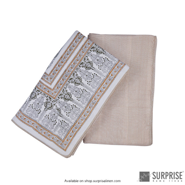 Surprise Home - Mughal Print Dohar (Grey)