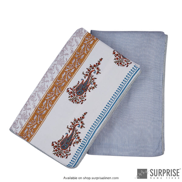 Surprise Home - Mughal Print Dohar (Blue)