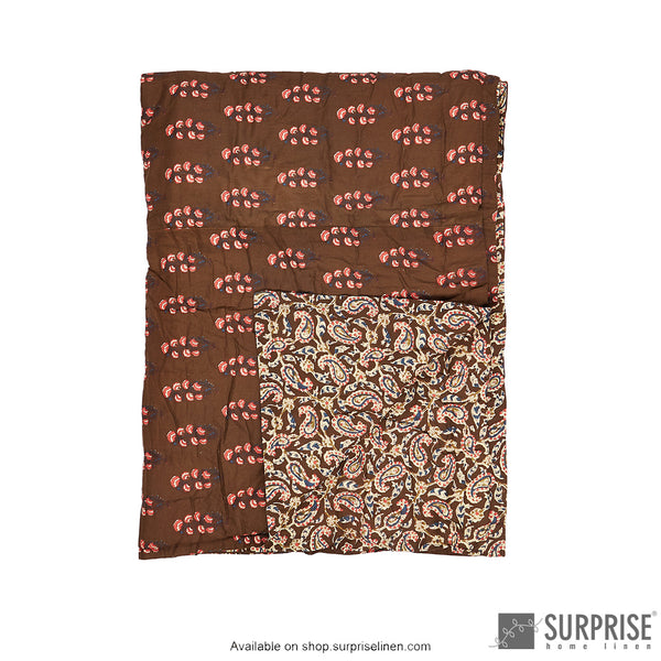 Surprise Home - Ethnic Rajai (Brown)