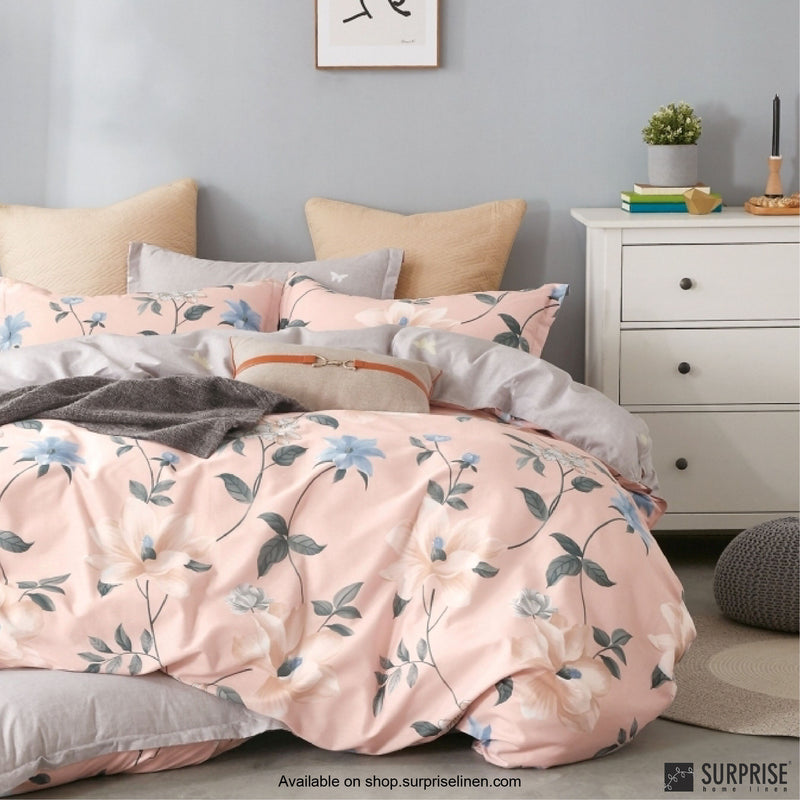 Essentials by Surprise Home - Floral (Baby Pink) Bed Sheet Set