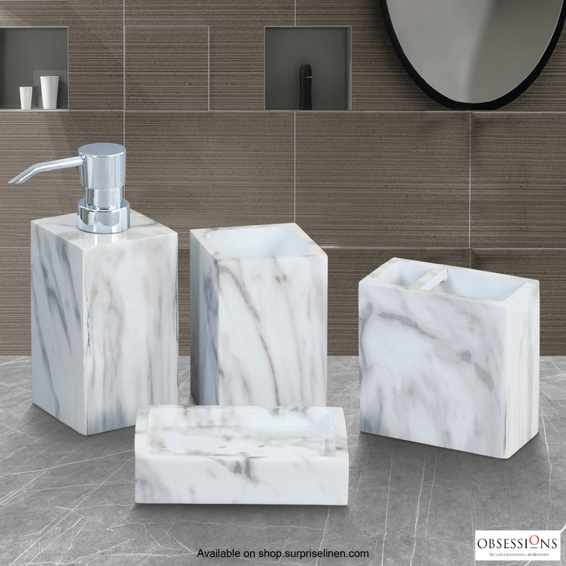 Obsessions - Spaze 4 Pcs Bath Set (Grey White)