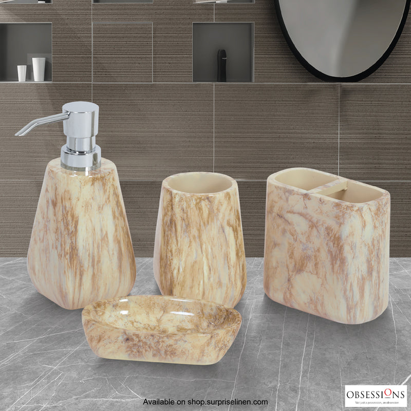 Obsessions - Spaze 4 Pcs Bath Set (Beige Brown)